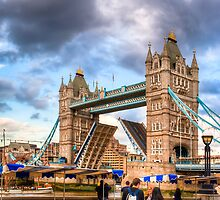 Bridge Up - London Tower Bridge by Mark Tisdale