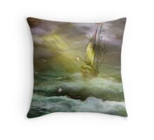 High Seas Navigation Throw Pillow