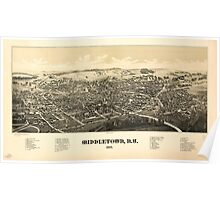 Panoramic Maps Middletown NY 1887 Poster