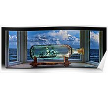 Ship in a Bottle Poster