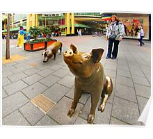 Sculpture in Shopping Mall, Adelaide Poster
