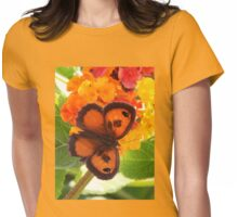 Southern Gatekeeper Butterfly Womens Fitted T-Shirt