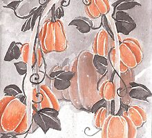 Enchanted Pumpkin Archway by lysswhitart