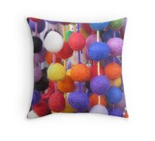 COLOURED COTTON BOBBLES NOW AVAILABLE ON THROW PILLOWS Throw Pillow
