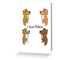 I Love Tollers! Greeting Card