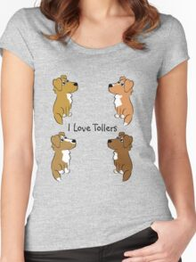 I Love Tollers! Women's Fitted Scoop T-Shirt