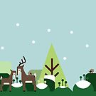 Woodland deer - Christmas 2015 by psygon