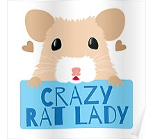 CUTE crazy rat lady (in cream colour) Poster