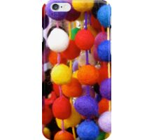 COLOURED COTTON BOBBLES NOW AVAILABLE ON THROW PILLOWS iPhone Case/Skin