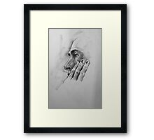 Steve with three fingers Framed Print