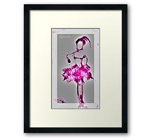 Pink Gamma Ballerina. By Lydeeah.. Framed Print