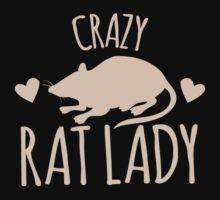 Crazy Rat Lady (in cream colour) Kids Tee