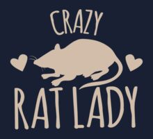 Crazy Rat Lady (in cream colour) by jazzydevil