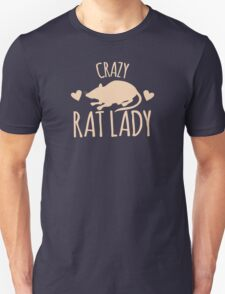 Crazy Rat Lady (in cream colour) T-Shirt