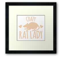 Crazy Rat Lady (in cream colour) Framed Print