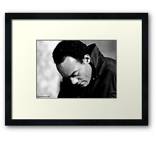 Ken Foree in Profile Framed Print