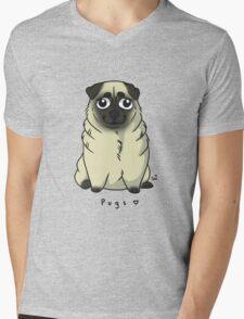Cute Pug Mens V-Neck T-Shirt