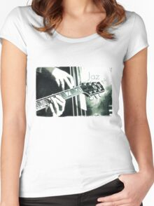 Double bass and Guitar Women's Fitted Scoop T-Shirt