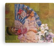 Girl With A Fan Canvas Print