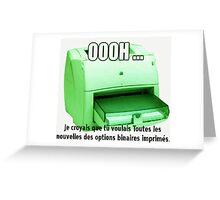 Les News Options Binaires avec imprimeur Greeting Card