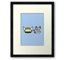 Angel Pie and Devil Pi Framed Print
