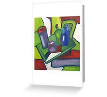 Cubist Still Life Greeting Card