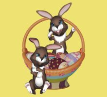 Cute Easter bunnies .. t-Shirt by LoneAngel