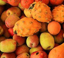 Apples Pitahaya and Papaya by rhamm