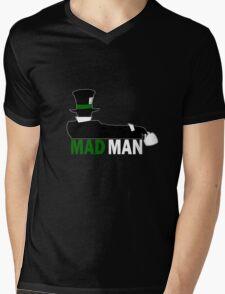 Mad Man Dark Mens V-Neck T-Shirt