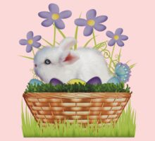 Bunny in a basket .. T-Shirt by LoneAngel