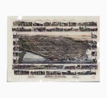 Panoramic Maps Bristol Rhode Island One Piece - Short Sleeve