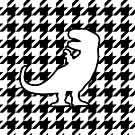 T-Rex houndstooth pattern by jezkemp