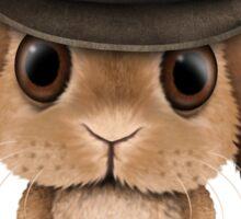 Cute Brown Baby Bunny Cowboy Sticker