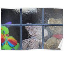 Teddybears looking in Poster