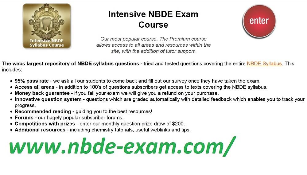 NBDE Exam | NBDE Courses | NBDE Syllabus | NBDE Test | NBDE Questions by kingpars6