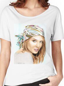Kylie Minogue - bandana/kerchief (color version) Women's Relaxed Fit T-Shirt