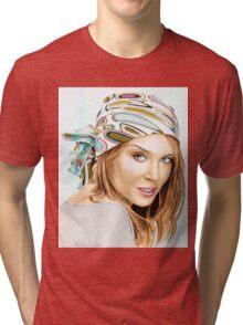 Kylie Minogue - bandana/kerchief (color version) Tri-blend T-Shirt