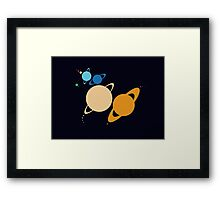Solar System Unicorn (to scale) Framed Print