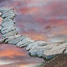 Rock Walkway Sunset by Bo Insogna