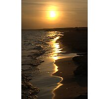 Sunny summer beach sunset Photographic Print