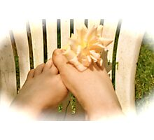 Play footsies with me Photographic Print