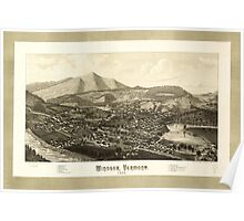 Panoramic Maps Windsor Vermont 1886 Poster