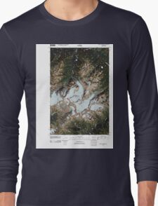 USGS Topo Map Washington State WA Mount Olympus 20110503 TM Long Sleeve T-Shirt