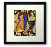Abstract figure Framed Print