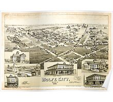 Panoramic Maps Wolfe City Texas 1891 Poster