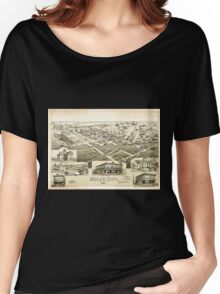 Panoramic Maps Wolfe City Texas 1891 Women's Relaxed Fit T-Shirt
