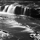 Ayesgarth Falls in Mono by Mark Dobson