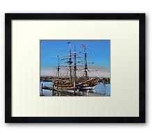 The Fantasy of Tall Ships Framed Print