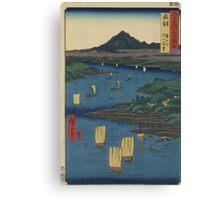 Japanese Print: River Journey Canvas Print