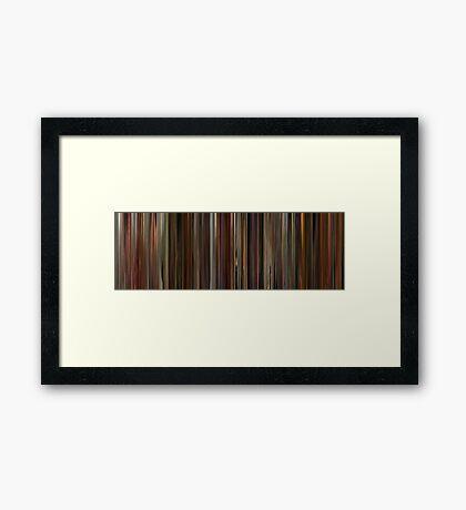 Moviebarcode: Santa sangre (1989) Framed Print